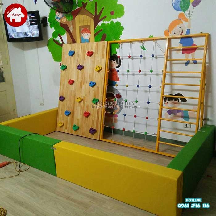 Lắp đặt đồ chơi vận động cho trường mầm non tại Nam Định-1