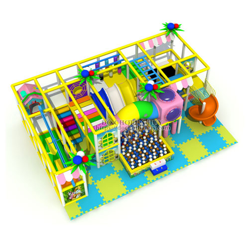 Lắp đặt khu vui chơi liên hoàn trong nhà hiện đại LH-021