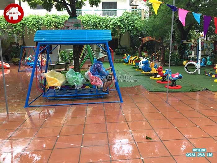 Sản xuất lắp đặt đồ chơi ngoài trời trường mầm non tại Thanh Hóa-1