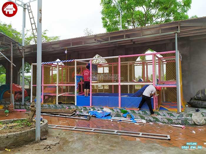 Thực tế nhà liên hoàn trong nhà khu vui chơi trẻ em-16