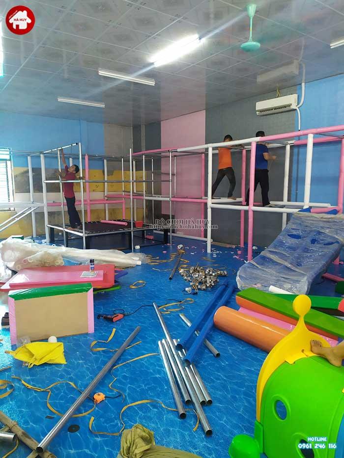 Thực tế nhà liên hoàn trong nhà khu vui chơi trẻ em-2