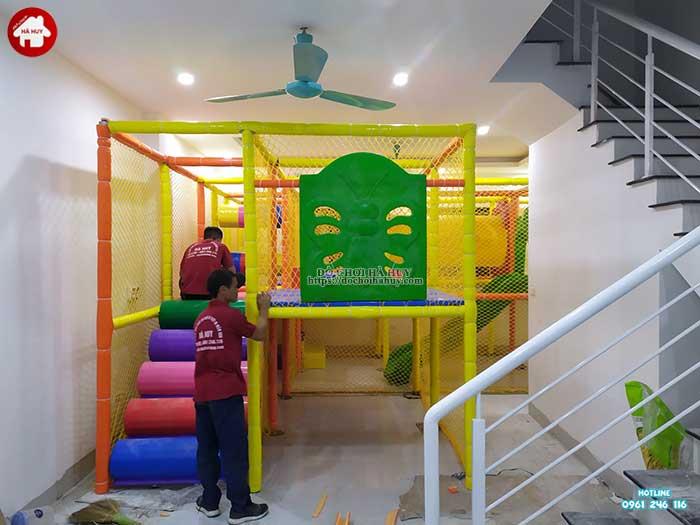 Thực tế nhà liên hoàn trong nhà khu vui chơi trẻ em-9