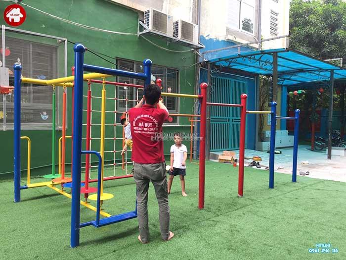 Sản xuất lắp đặt bộ vận động thể chất cho bé tại Hà Đông, Hà Nội-3