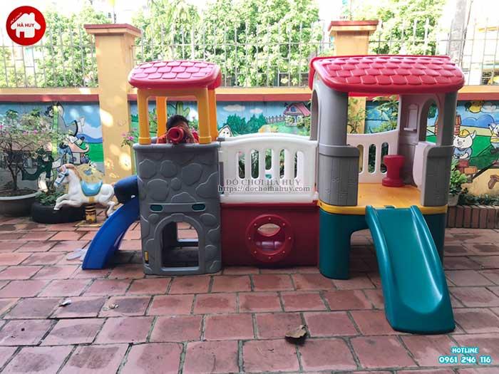 Sản xuất lắp đặt đồ chơi mầm non cho trường mầm non tại Hòa Bình-2