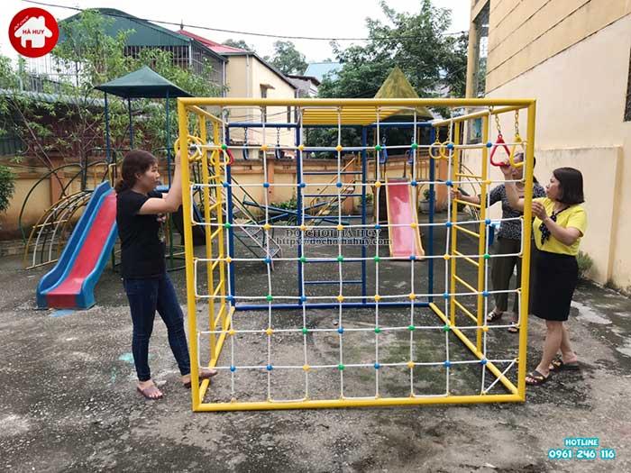 Sản xuất lắp đặt đồ chơi mầm non cho trường mầm non tại Hòa Bình-8