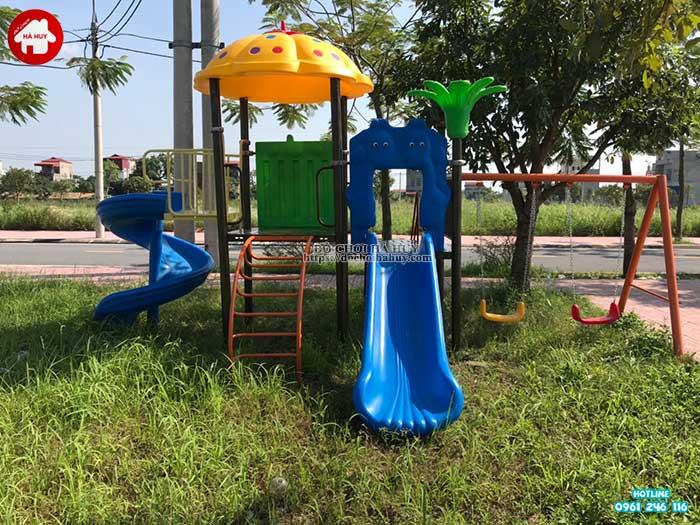 Sản xuất lắp đặt đồ chơi ngoài trời cho 1 công viên tại Hà Nam-1
