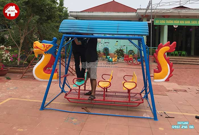 Sản xuất lắp đặt đồ chơi ngoài trời cho trường mầm non Mường Bú, Sơn La-1