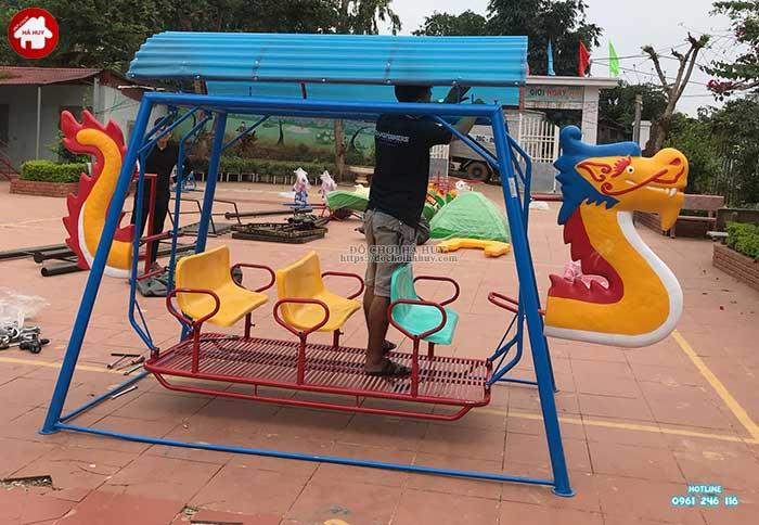 Sản xuất lắp đặt đồ chơi ngoài trời cho trường mầm non Mường Bú, Sơn La-2