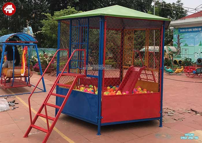 Sản xuất lắp đặt đồ chơi ngoài trời cho trường mầm non Mường Bú, Sơn La-6