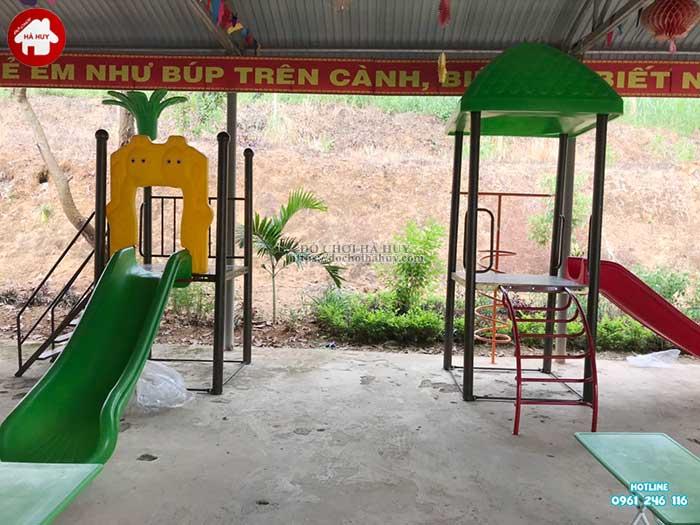 Sản xuất lắp đặt đồ chơi ngoài trời cho trường mầm non Mường Bú, Sơn La-7