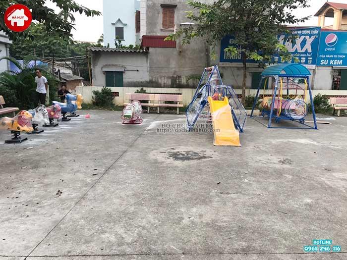 Sản xuất lắp đặt đồ chơi ngoài trời mầm non cho khách hàng tại Hà Nội-3