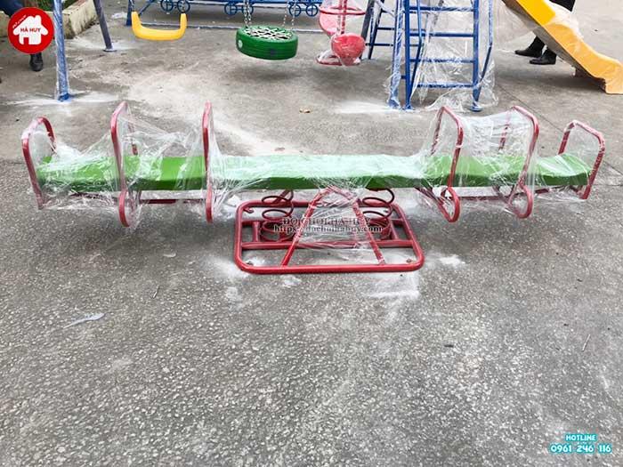 Sản xuất lắp đặt đồ chơi ngoài trời mầm non cho khách hàng tại Hà Nội-4