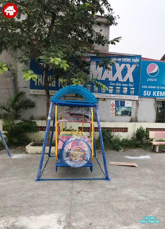 Sản xuất lắp đặt đồ chơi ngoài trời mầm non cho khách hàng tại Hà Nội-6