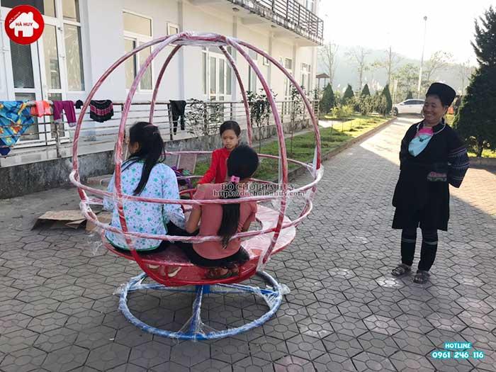 Sản xuất lắp đặt đồ chơi ngoài trời cho bệnh viện đa khoa Sapa, Lào Cai-10
