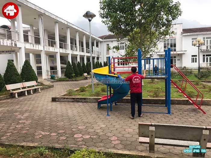 Sản xuất lắp đặt đồ chơi ngoài trời cho bệnh viện đa khoa Sapa, Lào Cai-7