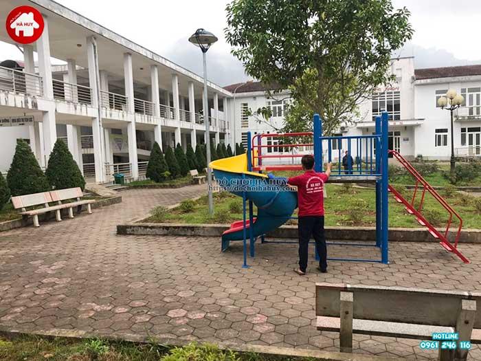 Sản xuất lắp đặt đồ chơi ngoài trời cho bệnh viện đa khoa Sapa, Lào Cai-8