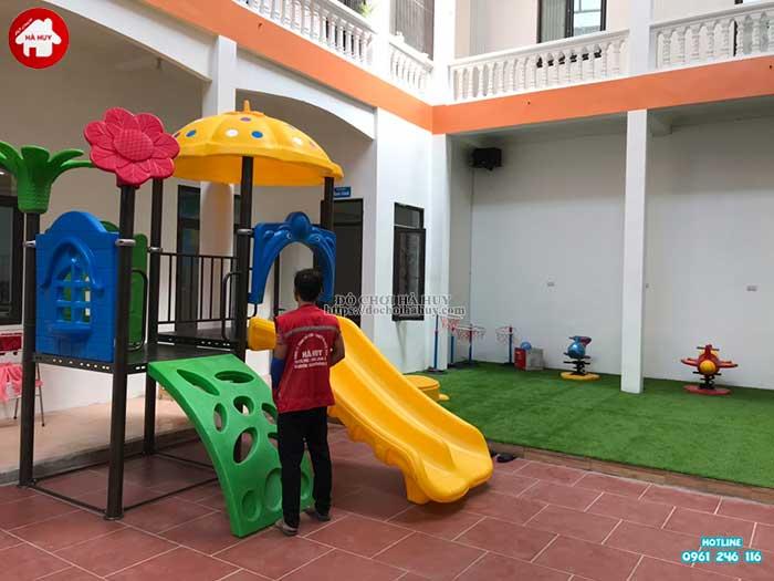 Sản xuất lắp đặt đồ chơi ngoài trời cho khách hàng tại Hòa Bình-1
