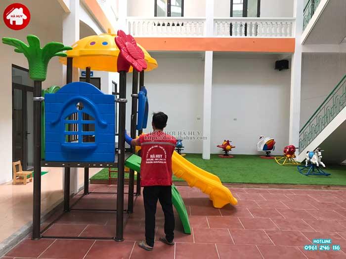 Sản xuất lắp đặt đồ chơi ngoài trời cho khách hàng tại Hòa Bình-2