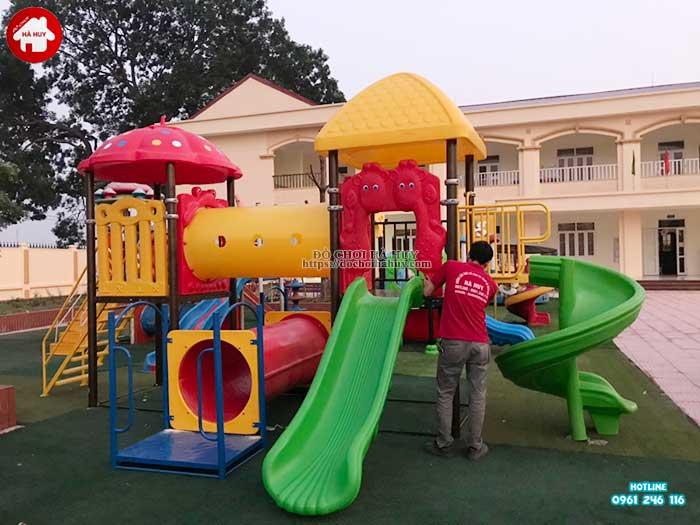 Sản xuất lắp đặt đồ chơi ngoài trời cho trường mầm non tại Hà Nội-1
