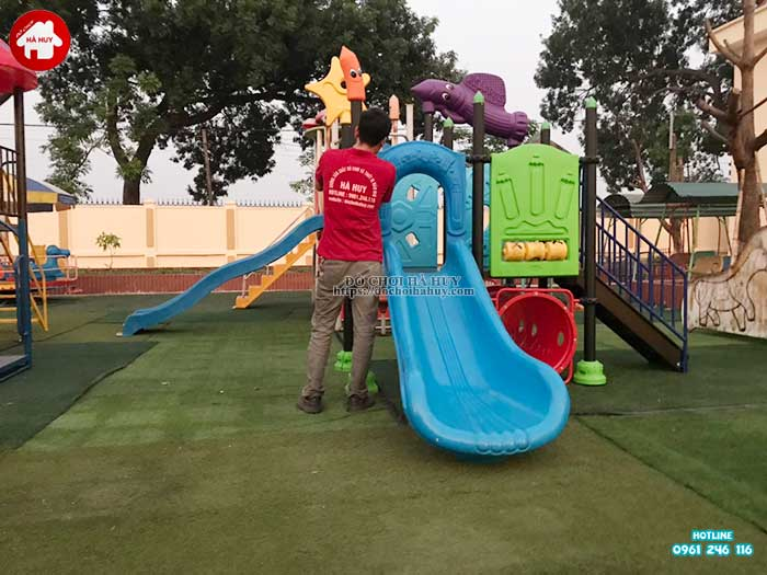 Sản xuất lắp đặt đồ chơi ngoài trời cho trường mầm non tại Hà Nội-2