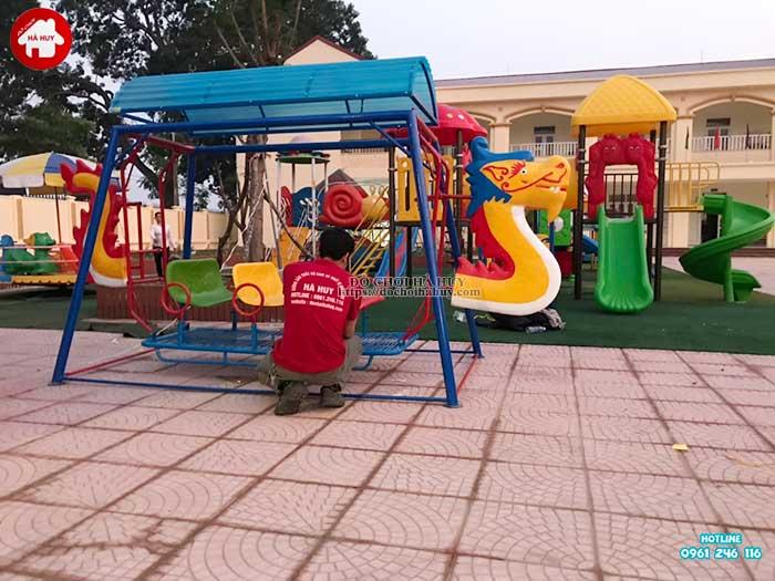 Sản xuất lắp đặt đồ chơi ngoài trời cho trường mầm non tại Hà Nội-3