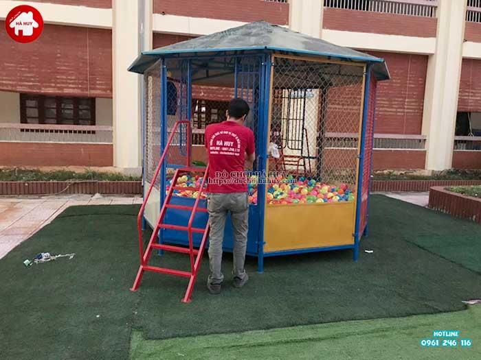 Sản xuất lắp đặt đồ chơi ngoài trời cho trường mầm non tại Hà Nội-6