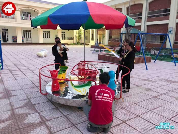 Sản xuất lắp đặt đồ chơi ngoài trời cho trường mầm non tại Hà Nội-7