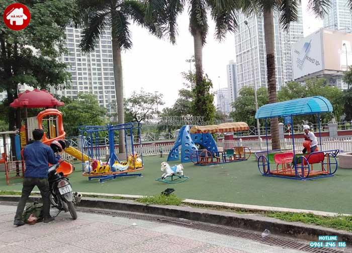 Sản xuất và lắp đặt đồ chơi ngoài trời cho BigC Trần Duy Hưng tại Hà Nội-1
