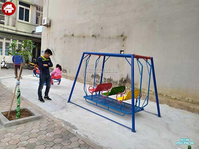 Sản xuất và lắp đặt đồ chơi ngoài trời cho khách tại Hà Đông, Hà Nội-1