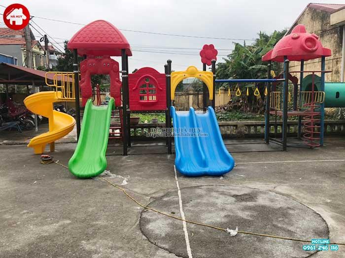 Sản xuất lắp đặt đồ chơi ngoài trời cho trường mầm non tại Thái Bình-2