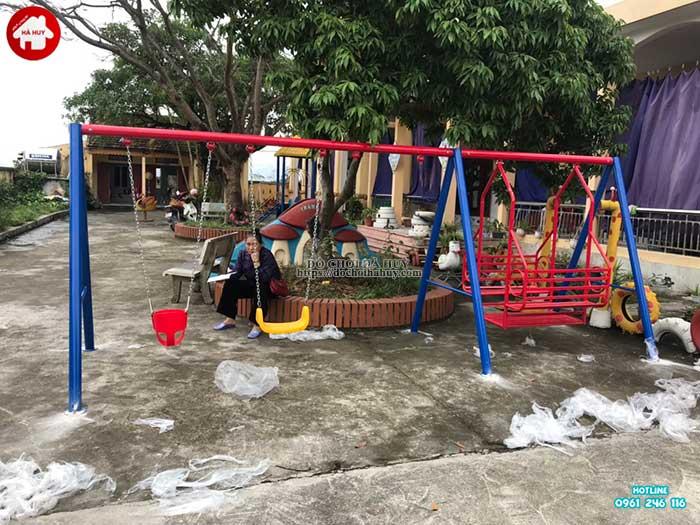 Sản xuất lắp đặt đồ chơi ngoài trời cho trường mầm non tại Thái Bình-3
