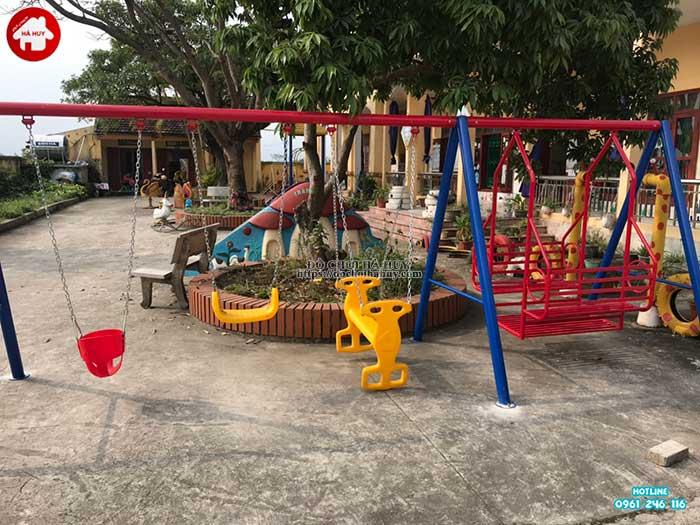 Sản xuất lắp đặt đồ chơi ngoài trời cho trường mầm non tại Thái Bình-4