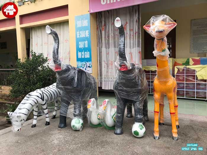 Sản xuất lắp đặt đồ chơi ngoài trời cho trường mầm non tại Thái Bình-7