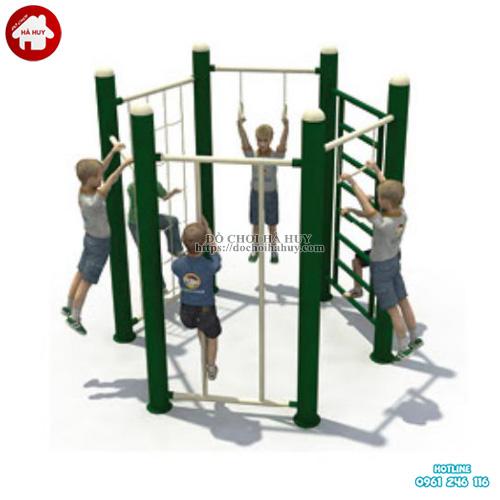 Bộ thang leo vận động thể chất lục giác cho bé HB1-017