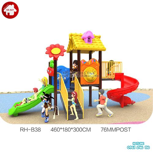 Cầu trượt liên hoàn ngoài trời trẻ em HB10-098