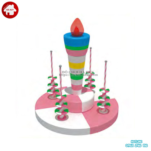 Đu quay bánh sinh nhật phụ kiện nhà liên hoàn PLH-014