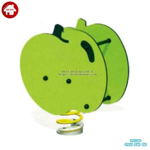 Mẫu nhún lò xo hình quả táo cho mẫu giáo HB2-348