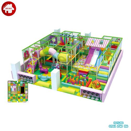 Nhà liên hoàn khu vui chơi trẻ em trong nhà đẹp LH-042