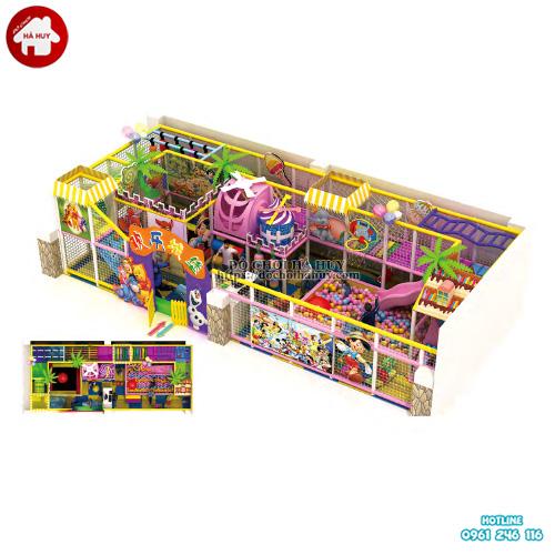 Nhà liên hoàn trong nhà cho trẻ em giá rẻ LH-038