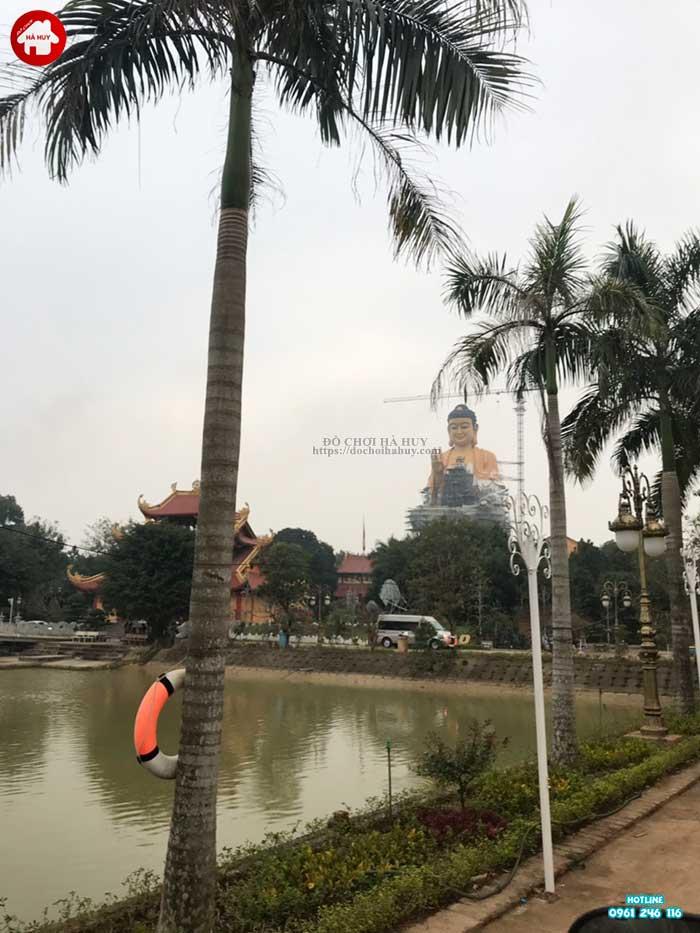 Sản xuất lắp đặt cầu trượt liên hoàn ngoài trời cho chùa Khai Nguyên-1