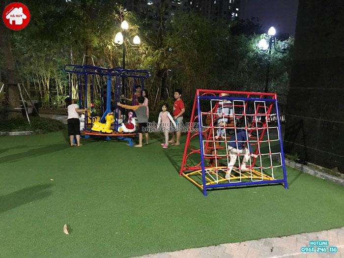 Sản xuất lắp đặt đồ chơi vận động ngoài trời cho khách tại Hà Nội-4
