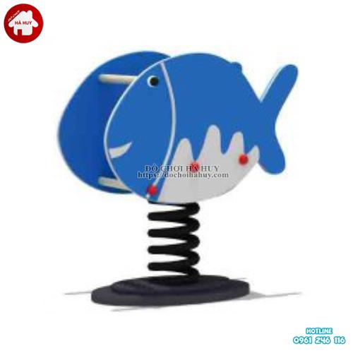 Thú nhún lò xo hình con cá cho bé mẫu giáo HB2-338