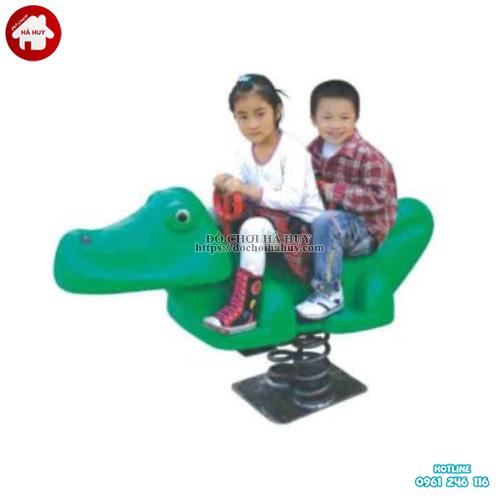 Thú nhún lò xo hình con cá sấu cho bé HB2-350