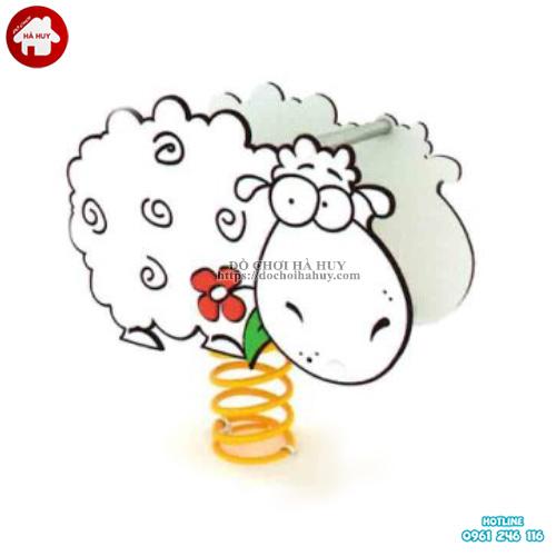 Thú nhún lò xo hình con cừu cho trẻ mầm non HB2-339