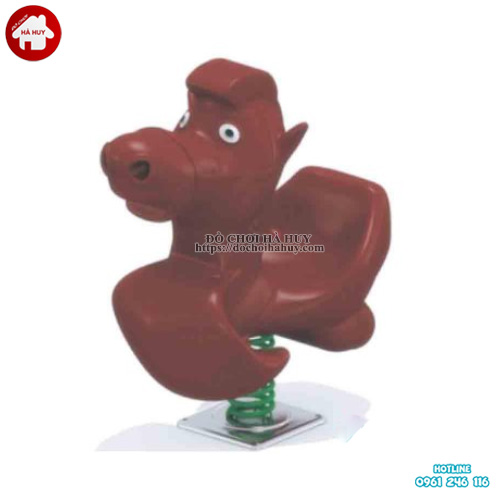 Thú nhún lò xo hình con ngựa cho bé mầm non HB2-357