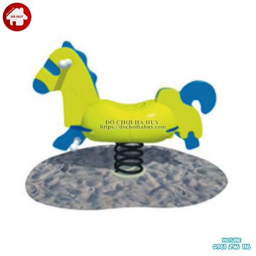 Thú nhún lò xo hình con ngựa cho trẻ em HB2-325