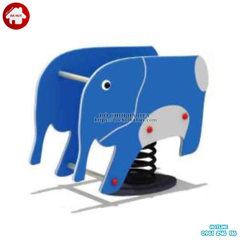 Thú nhún lò xo hình con voi cho bé tại hà nội HB2-336