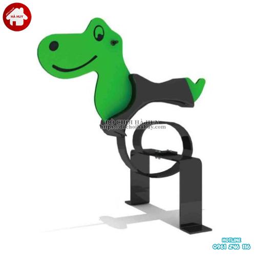 Thú nhún trẻ em mầm non hình con khủng long HB2-330