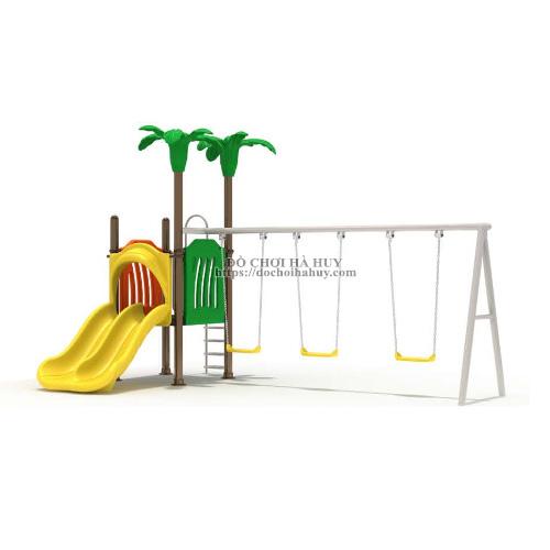 Xích đu cầu trượt liên hoàn ngoài trời cho trẻ em HB4-064