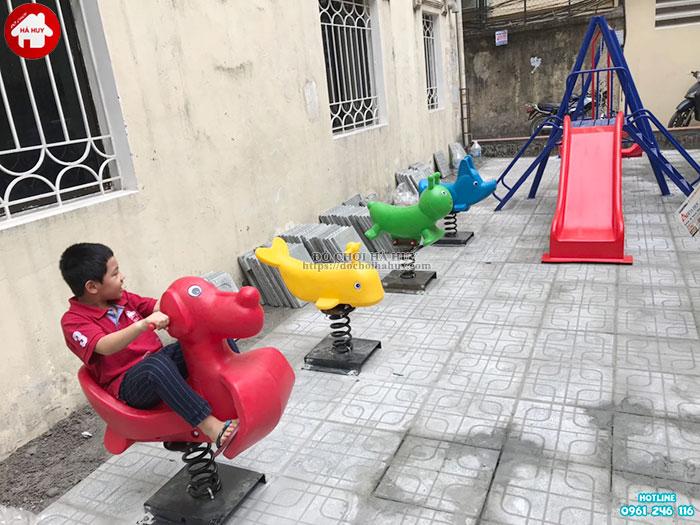 Sản xuất lắp đặt đồ chơi ngoài trời cho khách hàng tại Đông Anh, Hà Nội-1